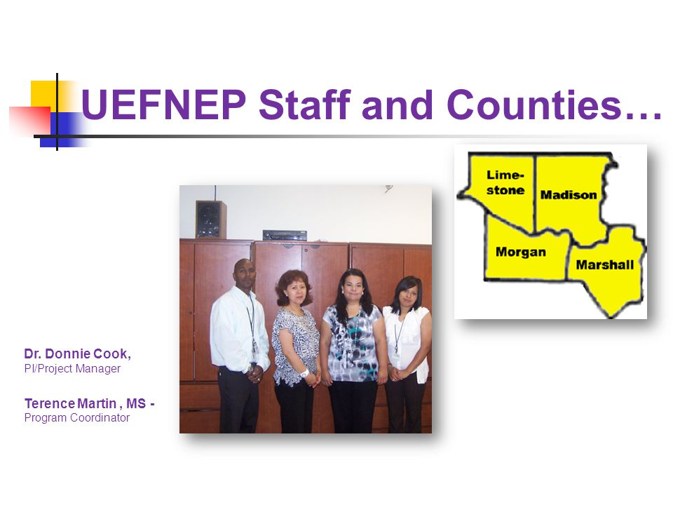 UEFNEP Staff and Counties… Dr.