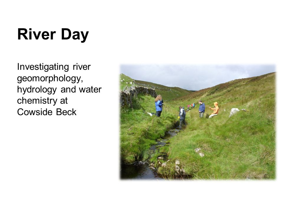 River Day Investigating river geomorphology, hydrology and water chemistry at Cowside Beck