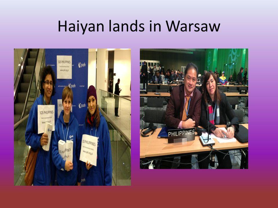 Haiyan lands in Warsaw
