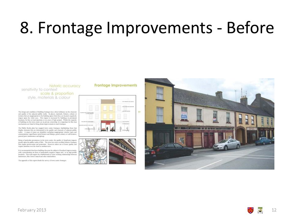 8. Frontage Improvements - Before February 201312