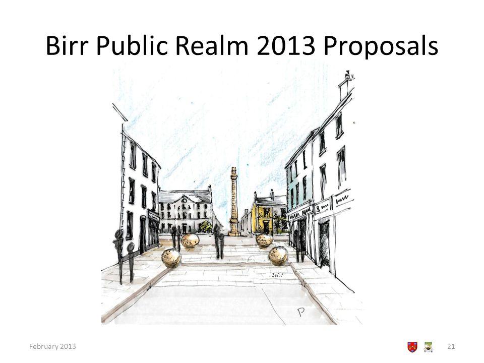 Birr Public Realm 2013 Proposals February 201321 RMcK