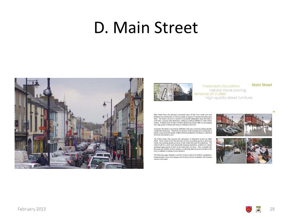 D. Main Street February 201329