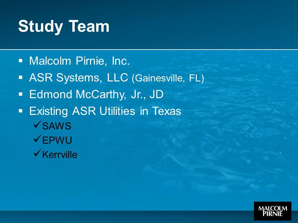 Study Team  Malcolm Pirnie, Inc.