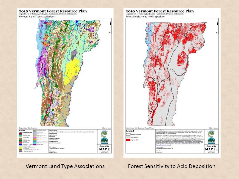 Vermont Land Type Associations Forest Sensitivity to Acid Deposition