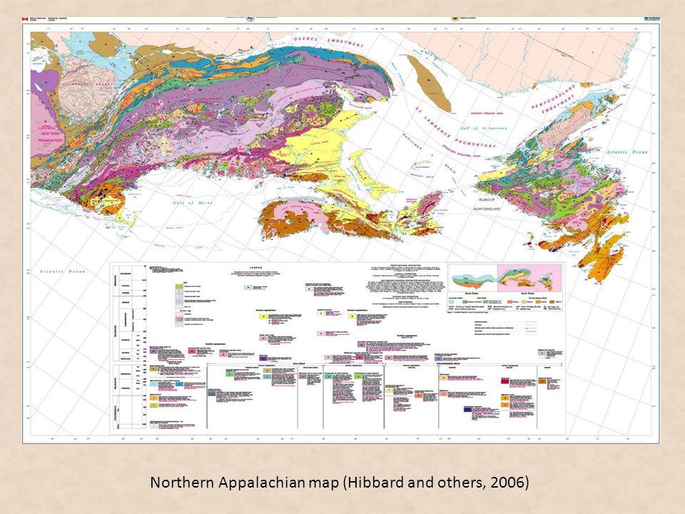 Northern Appalachian map (Hibbard and others, 2006)