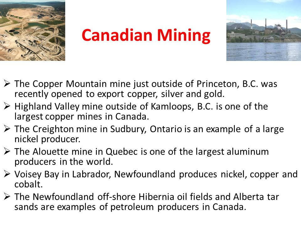  The Copper Mountain mine just outside of Princeton, B.C.