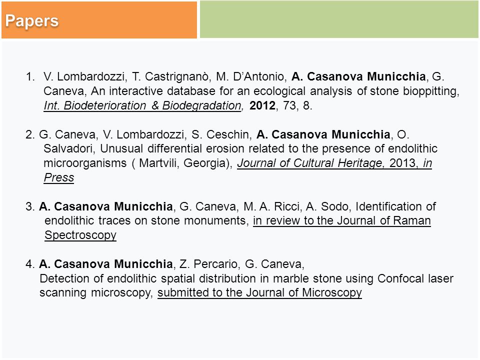 1.V. Lombardozzi, T. Castrignanò, M. D'Antonio, A.
