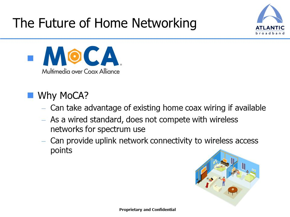 Proprietary and Confidential The Future of Home Networking Why MoCA.