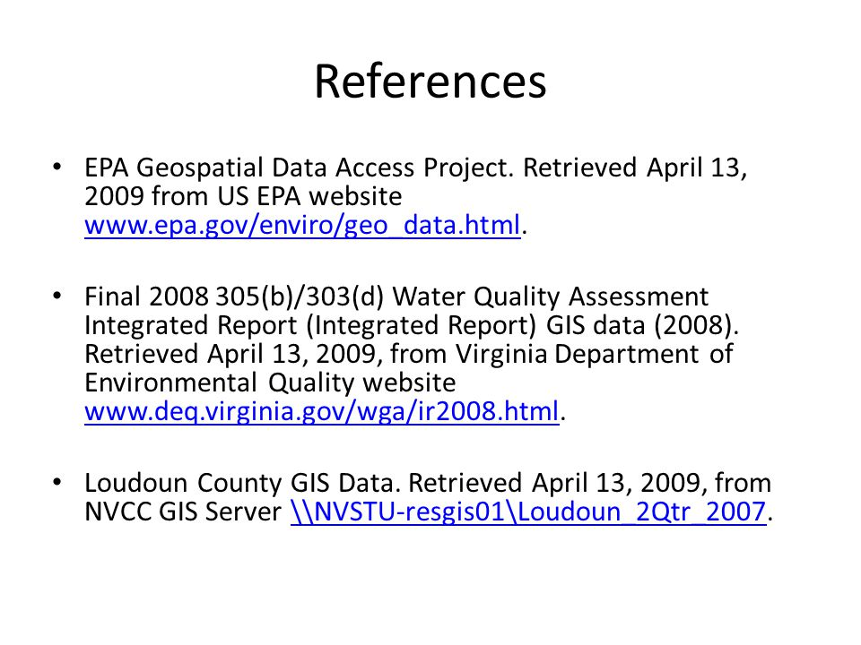 References EPA Geospatial Data Access Project.