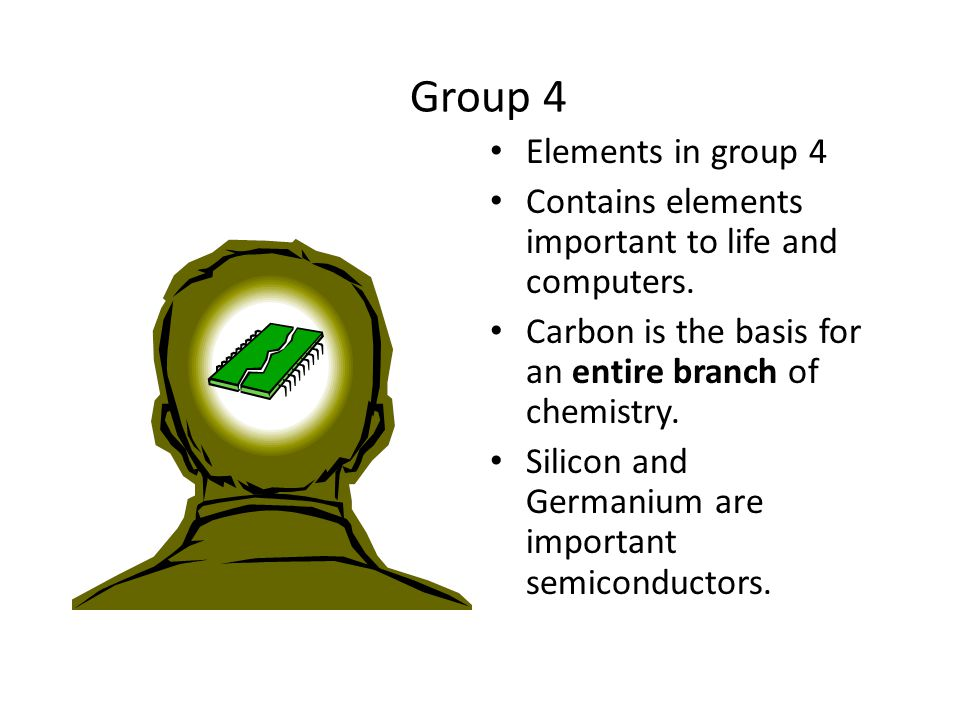 "Group 3 Elements in group 3 Aluminum metal was once rare and expensive, not a ""disposable metal."""