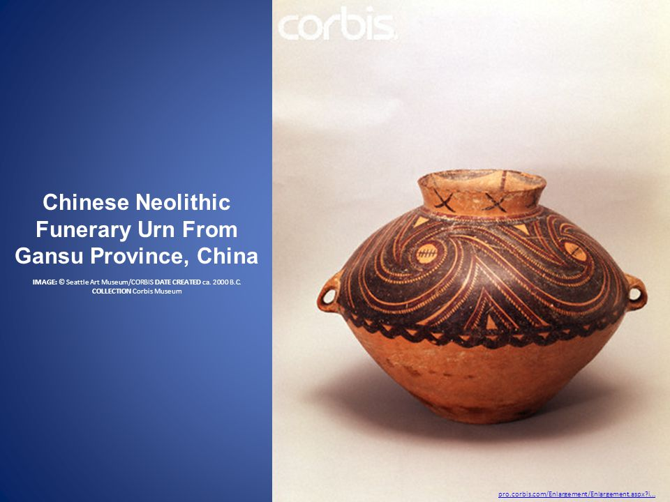 Chinese Neolithic Funerary Urn From Gansu Province, China IMAGE: © Seattle Art Museum/CORBIS DATE CREATED ca.