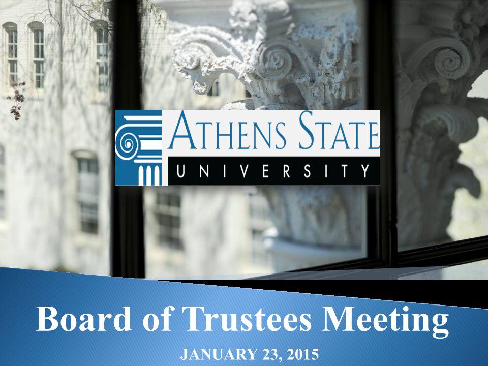 Board of Trustees Meeting JANUARY 23, 2015