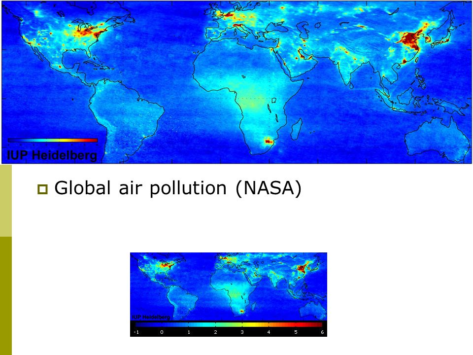  Global air pollution (NASA)