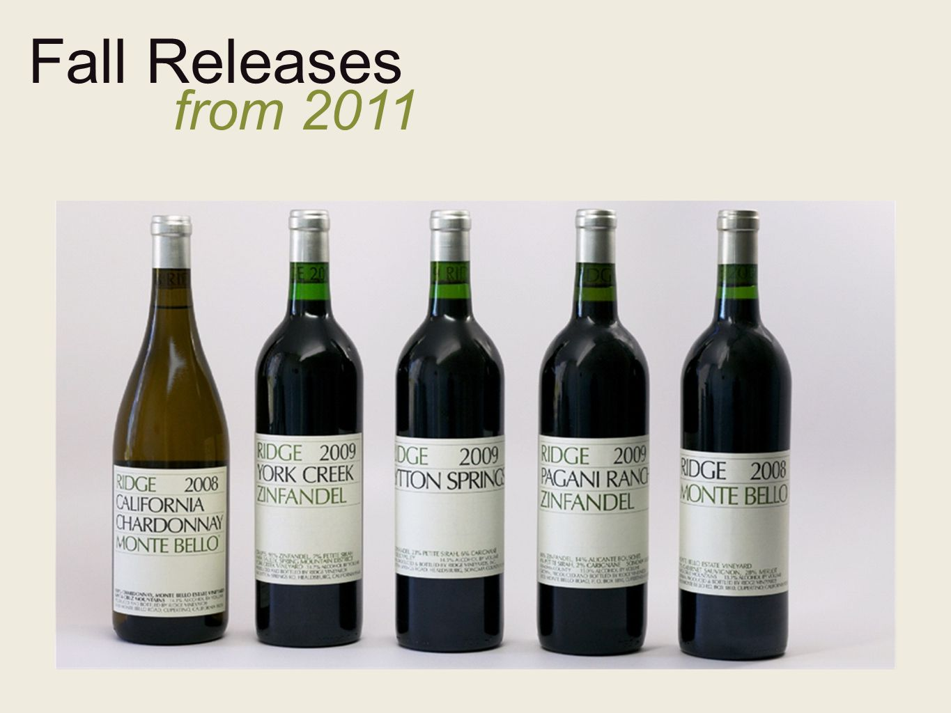 Fall Releases from 2011