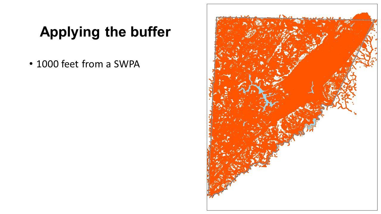 Applying the buffer 1000 feet from a SWPA