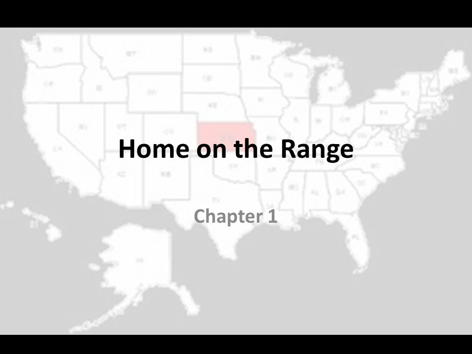 Home on the Range Chapter 1