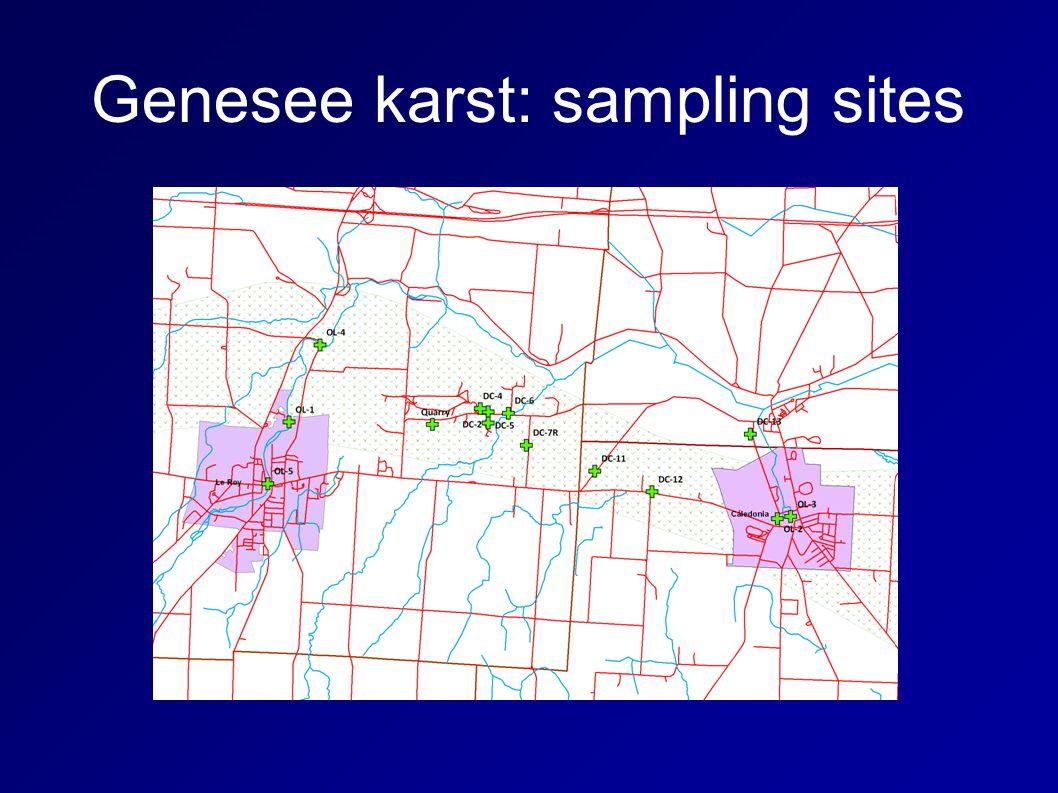 Genesee karst: sampling sites