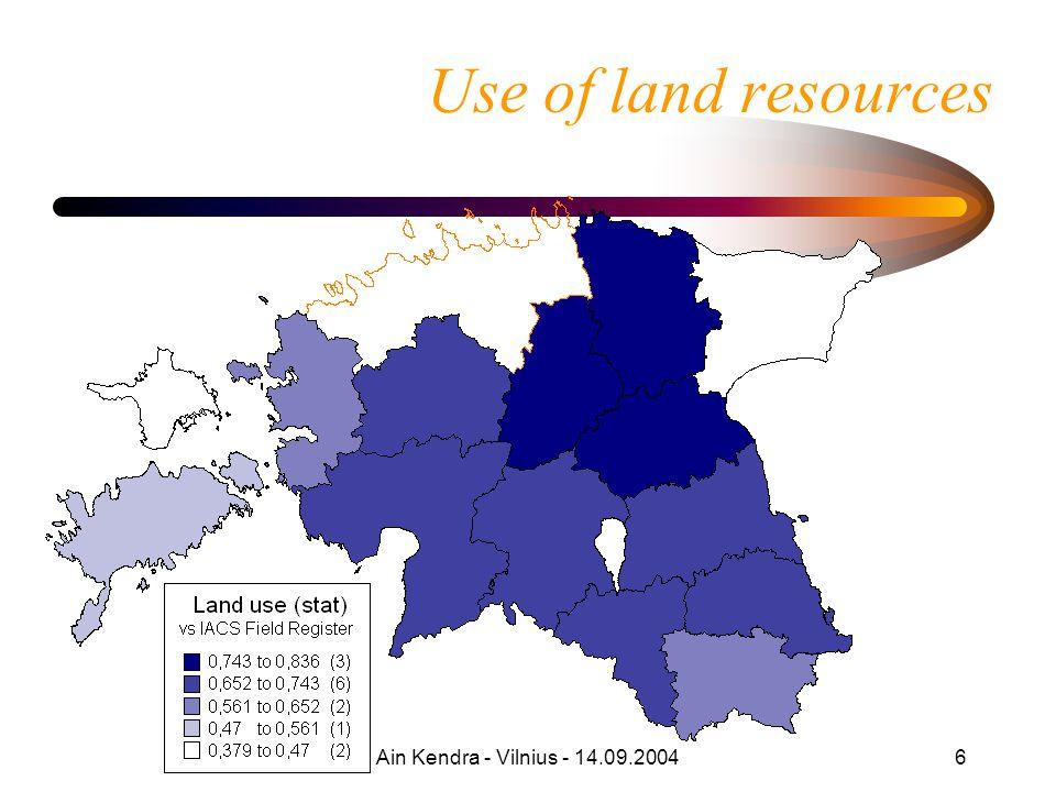 Ain Kendra - Vilnius - 14.09.200427 Funding ('000 EEK) 15,64 EEK = EUR 20042005200620072008 MoE5001700190016002600 MoA1600**2300**210015004100 Total2600*4500*40003100***6700*** *- BRSP co-funding ca 500 KEEK in 2004, same in 2005 – pilot studies, consulting **- TA of RDP (80% EU, 20% EST) ***- to be specified in detail in programming of 2007-2012 (RDP)