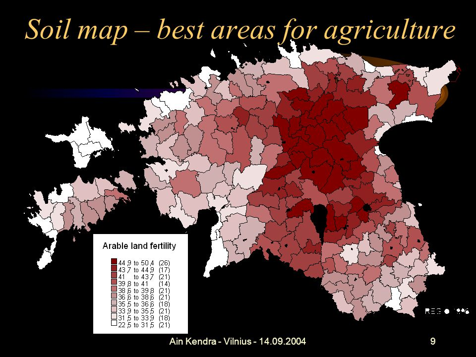 Ain Kendra - Vilnius - 14.09.200440 Land Field register = eligible for area-based subsidies –EU - IACS = Utilized (UAA) + temp.