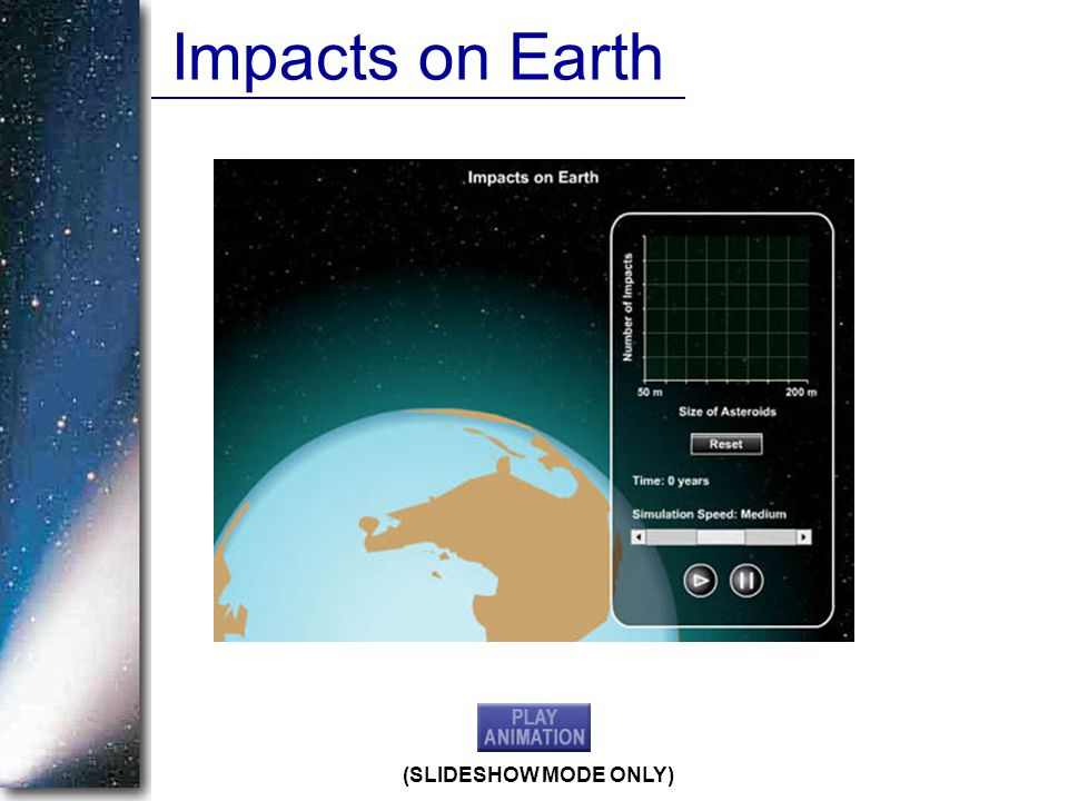 Impacts on Earth (SLIDESHOW MODE ONLY)