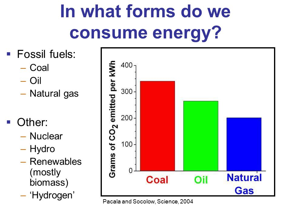 In what forms do we consume energy.