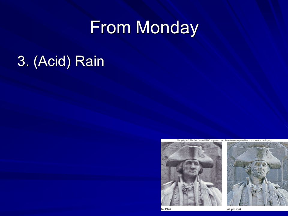 From Monday 3. (Acid) Rain