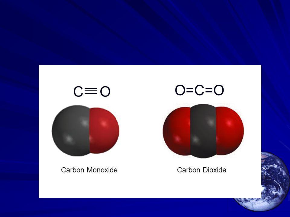 Carbon MonoxideCarbon Dioxide O=C=O C O