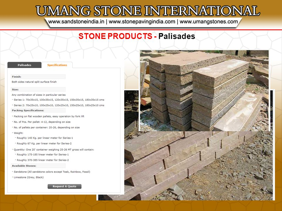 STONE PRODUCTS - Palisades