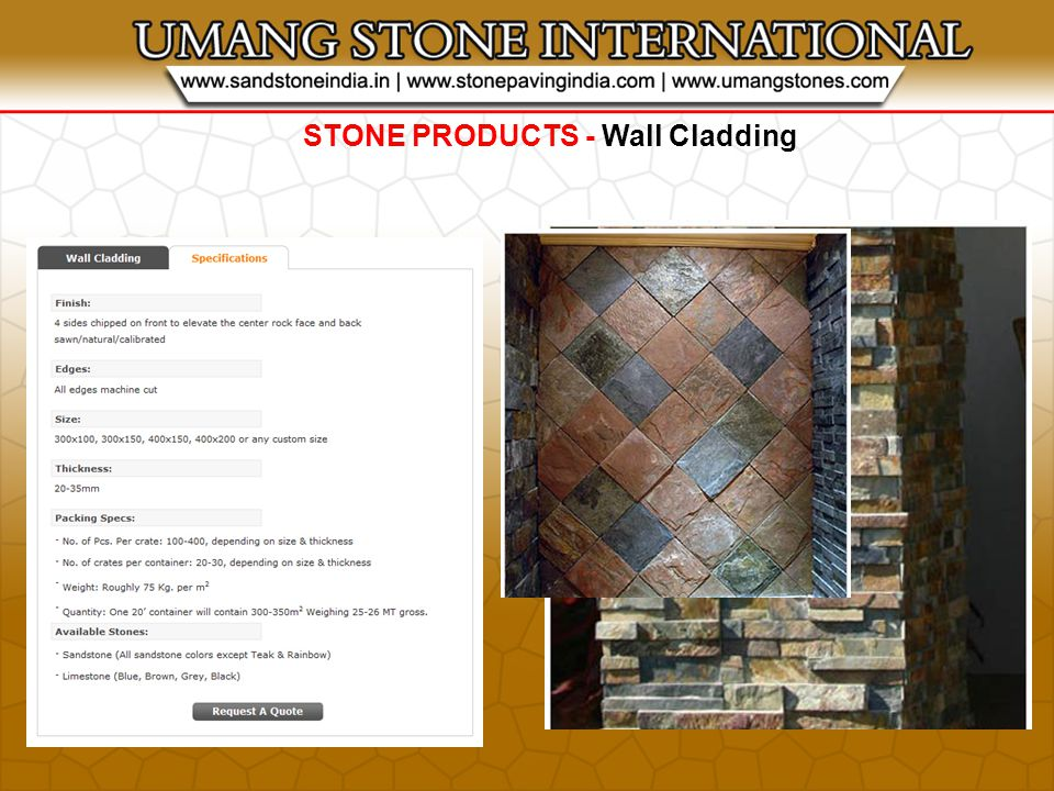 STONE PRODUCTS - Wall Cladding