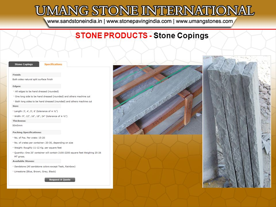 STONE PRODUCTS - Stone Copings
