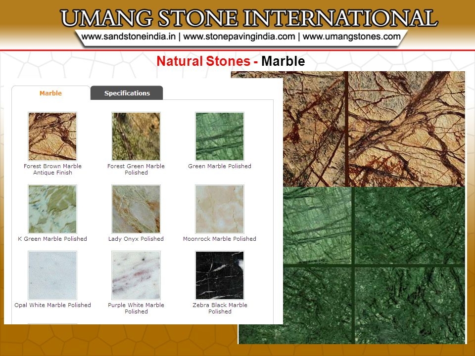 Natural Stones - Marble