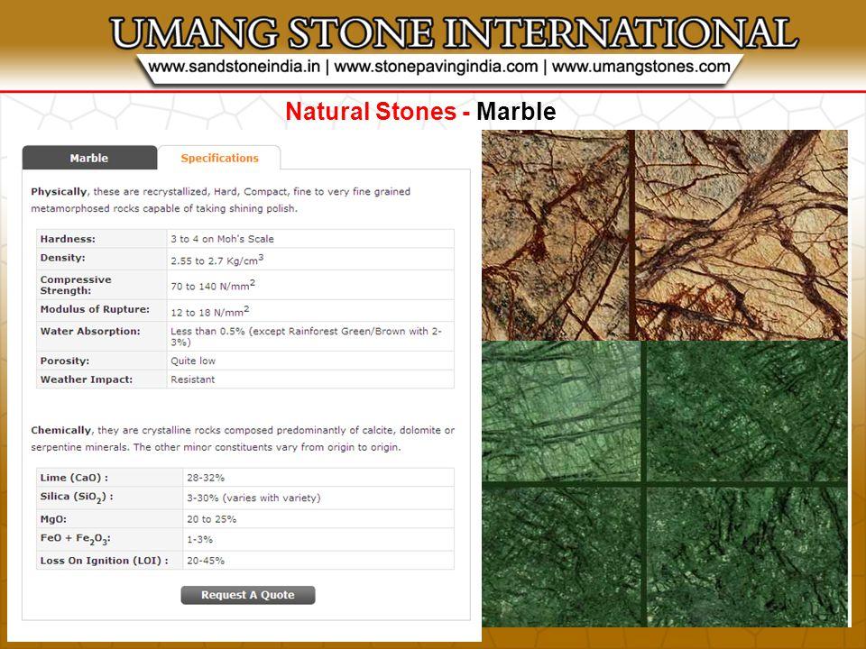 Natural Stones - Quartzite