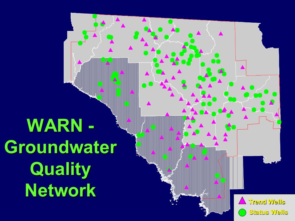 WARN - Groundwater Quality Network Trend Wells Status Wells