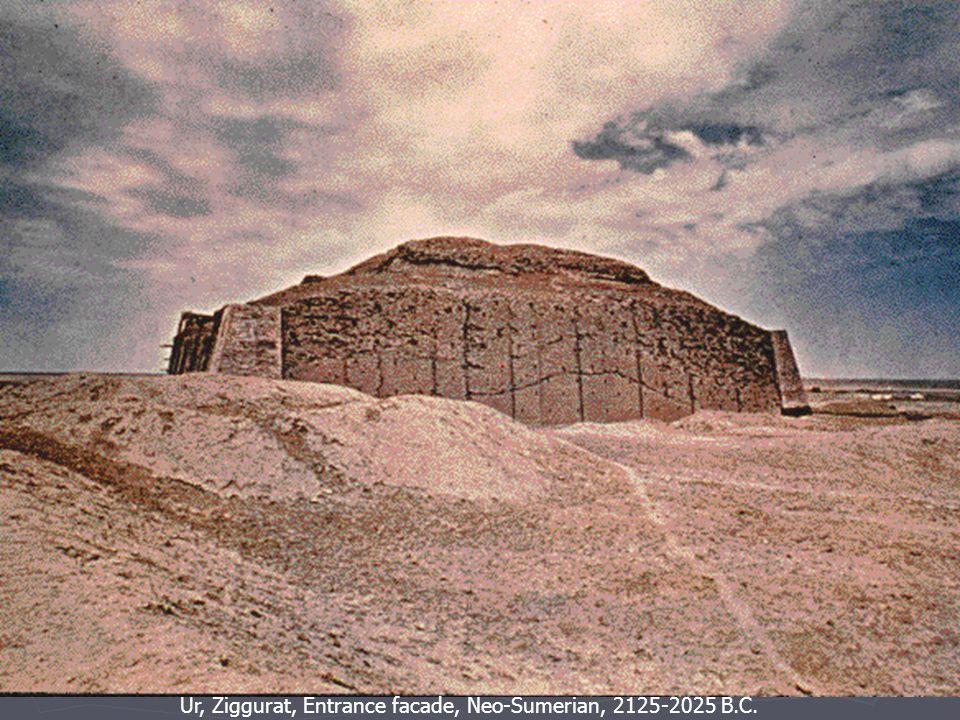 Ur, Ziggurat, Entrance facade, Neo-Sumerian, 2125-2025 B.C.