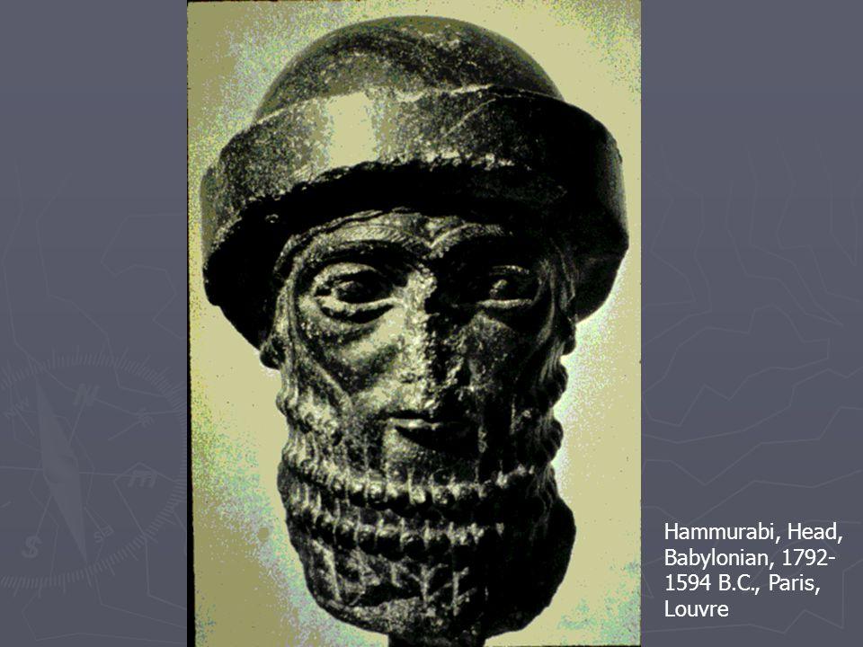 Hammurabi, Head, Babylonian, 1792- 1594 B.C., Paris, Louvre