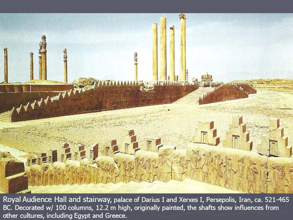 Royal Audience Hall and stairway, palace of Darius I and Xerxes I, Persepolis, Iran, ca.