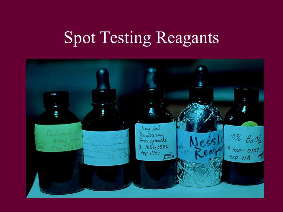 Spot Testing Reagants