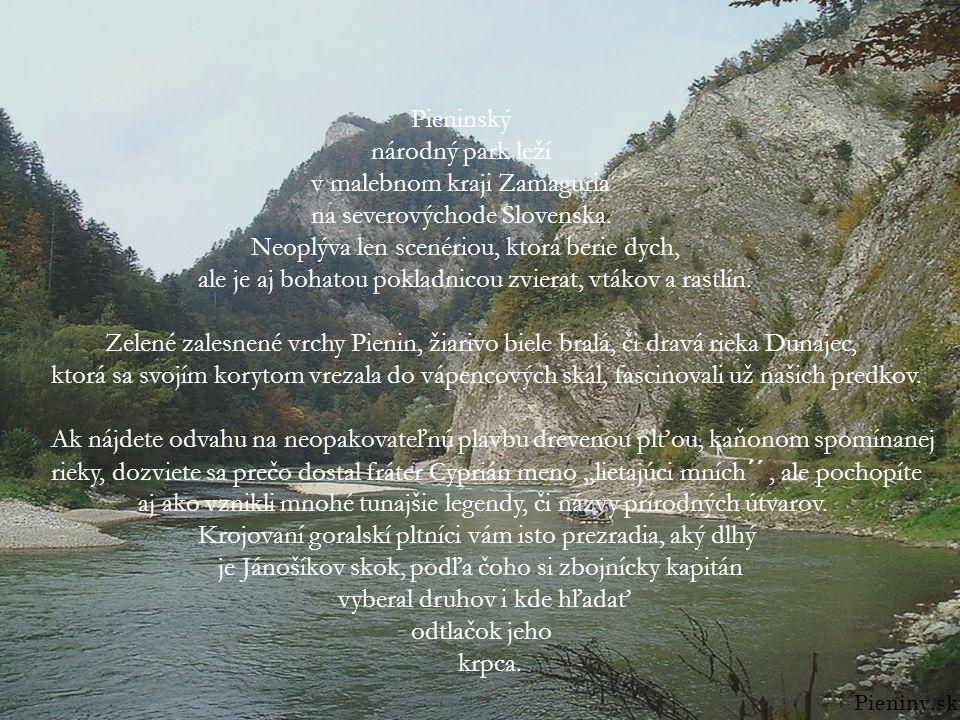 Pieninský národný park leží v malebnom kraji Zamaguria na severovýchode Slovenska. Neoplýva len scenériou, ktorá berie dych, ale je aj bohatou pokladn