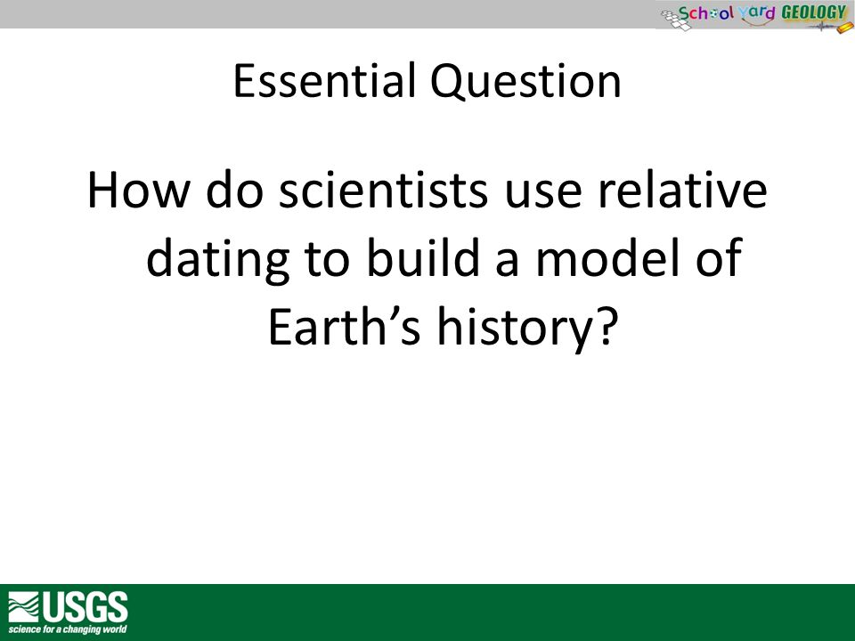 Essential Question How do scientists use relative dating to build a model of Earth's history?