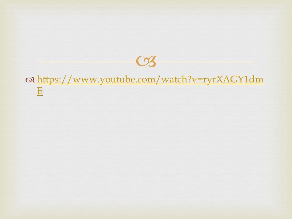   https://www.youtube.com/watch?v=ryrXAGY1dm E https://www.youtube.com/watch?v=ryrXAGY1dm E
