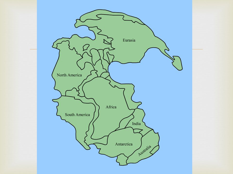   As far back as the 1500's, mapmakers noticed that the coasts of Africa and South America fit together like puzzle pieces.