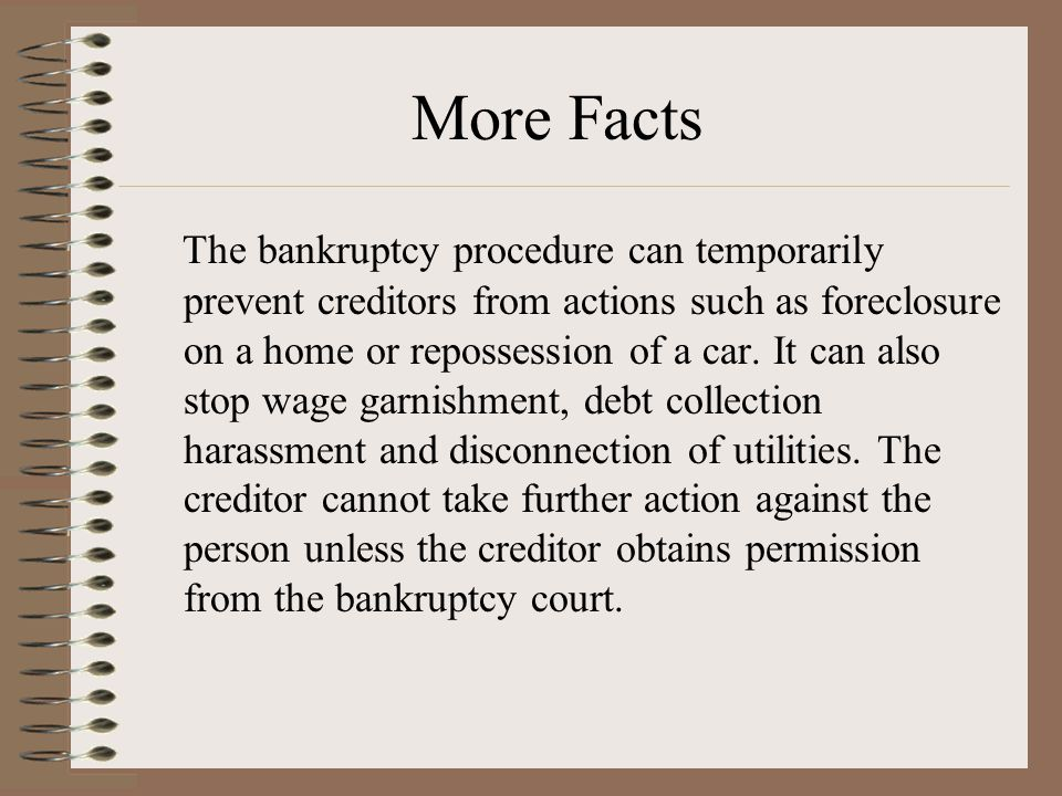 Bankruptcy reform is a recurring and contro- versial issue.