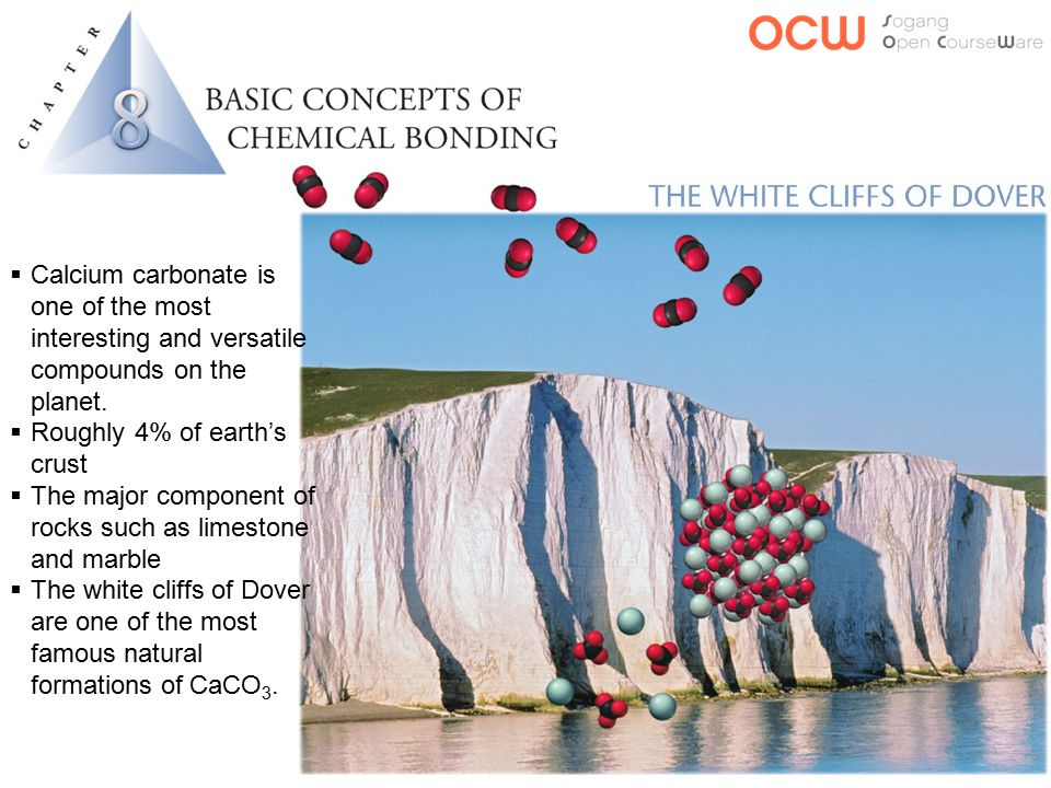  Calcium carbonate is one of the most interesting and versatile compounds on the planet.