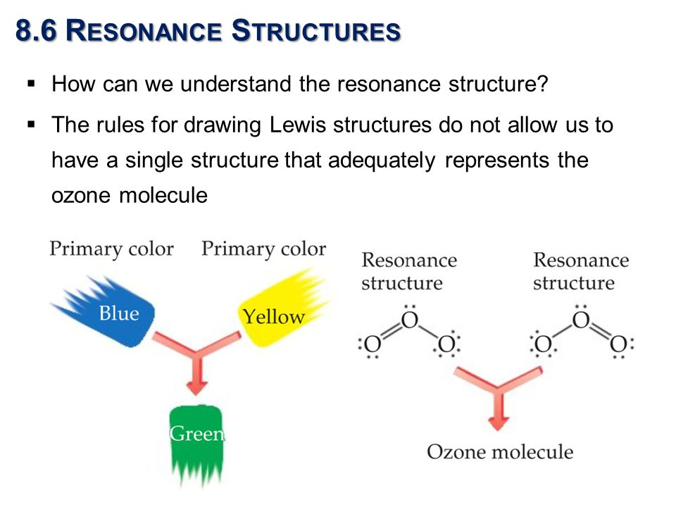  How can we understand the resonance structure.