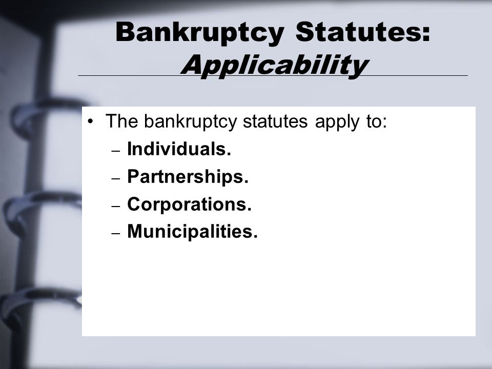 Chapter 11 Bankruptcy Reorganizations: SOP 90-7 The central idea of SOP 90-7 is that the entity that emerges from Chapter 11 be deemed a new entity for which fresh-start financial statements should be prepared.