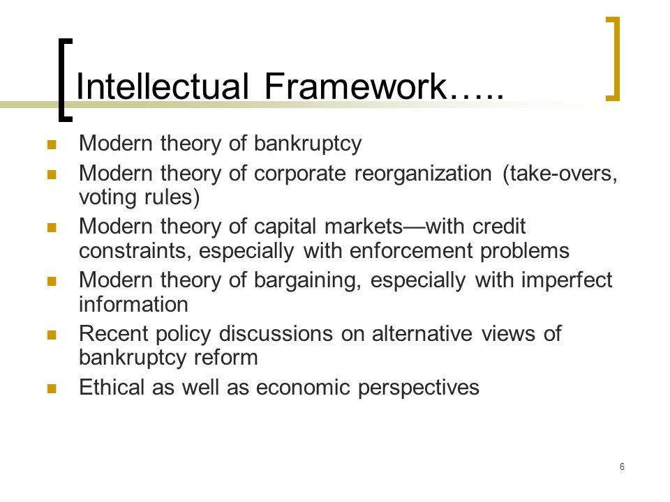 7 Intellectual Framework …..