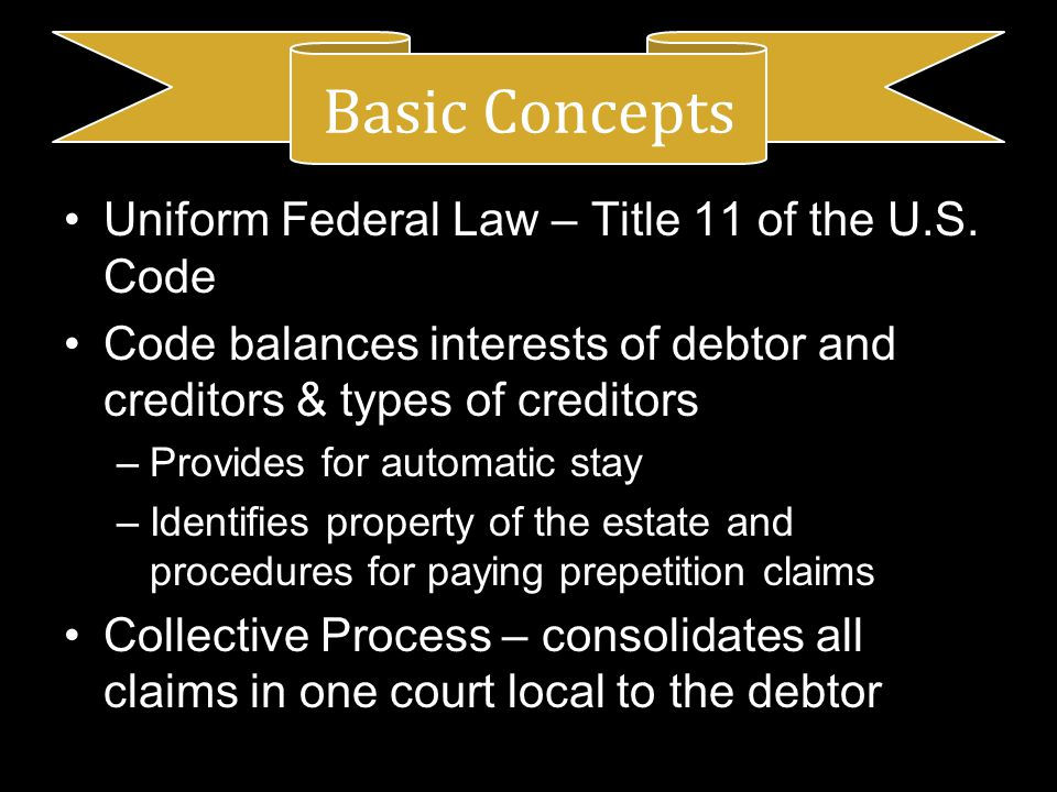 Uniform Federal Law – Title 11 of the U.S.