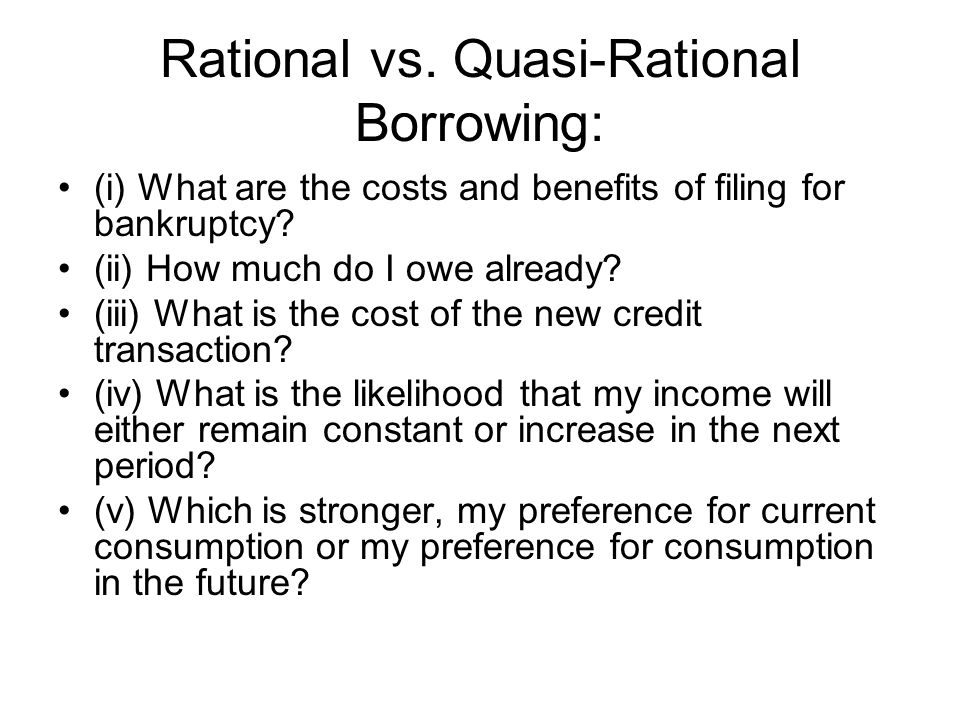 Rational vs.