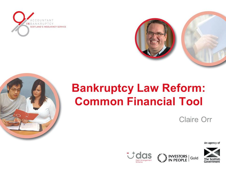 Common Financial Tool Bankruptcy Law Reform consultation proposed a single financial tool to ensure consistency in assessment of debtors' income and expenditure.