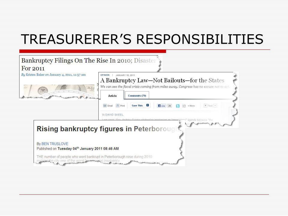 TREASURERER'S RESPONSIBILITIES